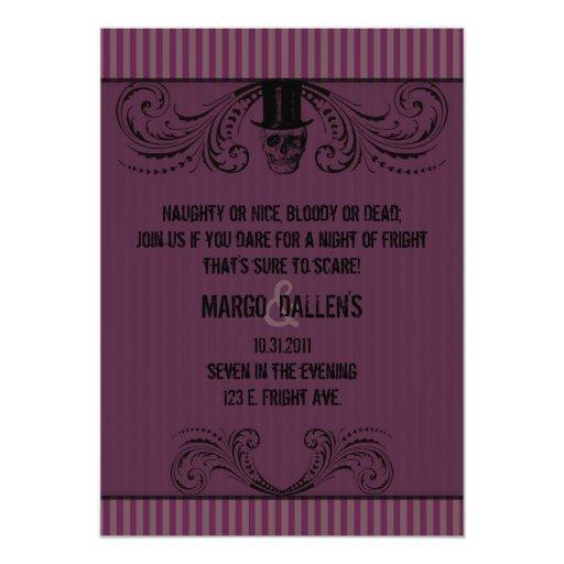 Una invitación formal del susto 2 invitación 12,7 x 17,8 cm