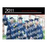 Una invitación grande 2011 del graduado de la foto tarjetas postales