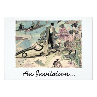 Una invitación (impresión futurista del siglo XIX) Invitación 12,7 X 17,8 Cm