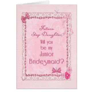 Una invitación menor de la dama de honor de la tarjeta de felicitación
