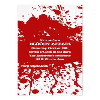 Una invitación sangrienta de Halloween del asunto