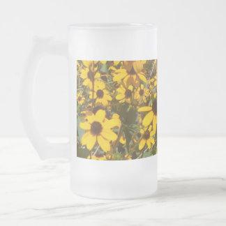 Una Jarra de cerveza/Flores Taza De Cristal