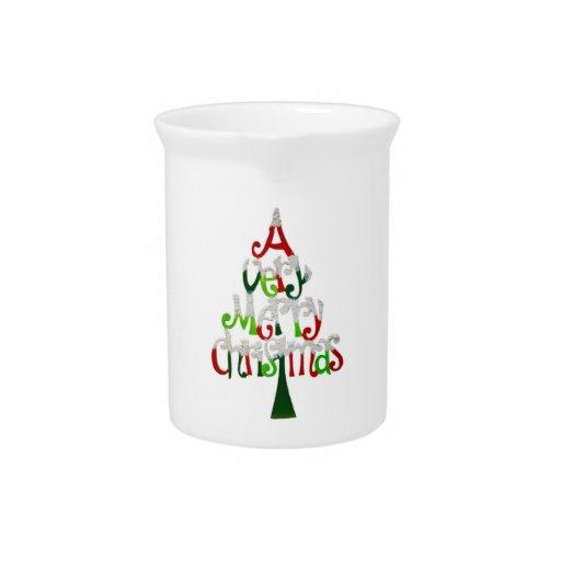 Una jarra de las Felices Navidad muy
