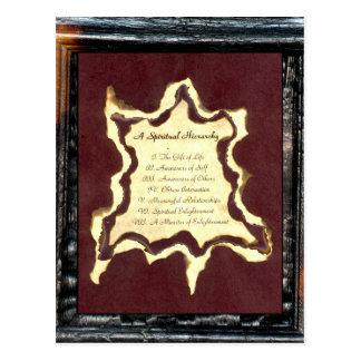 Una jerarquía espiritual tarjeta postal