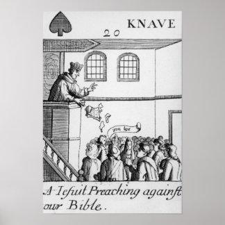 Una jesuita que predica contra nuestra biblia posters