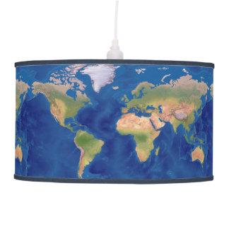 Una lámpara hermosa del mapa del mundo