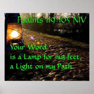 una lámpara para nuestros pies póster