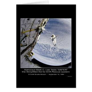 """Una lanzadera """"MÁS SEGURA"""" STS-64 de C. Lee Tests  Tarjeta De Felicitación"""