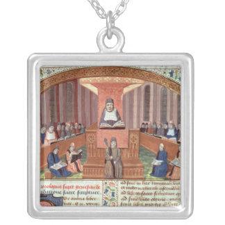 Una lección en teología en el Sorbonne Colgante Cuadrado