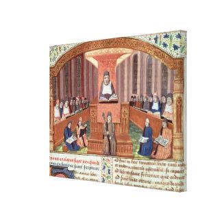 Una lección en teología en el Sorbonne Impresiones En Lienzo Estiradas