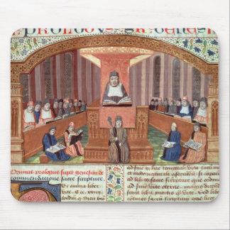 Una lección en teología en el Sorbonne Alfombrillas De Raton