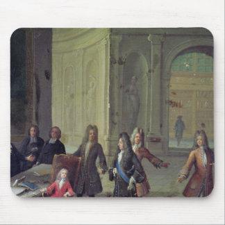Una lección que es dada al Louis joven XV Alfombrillas De Ratones