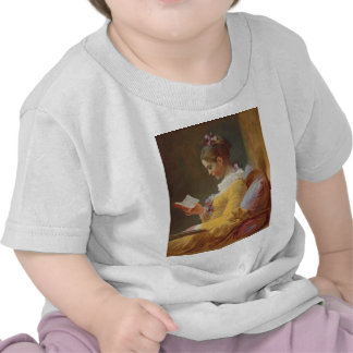 Una lectura de la chica joven, el lector de J. Fra Camiseta