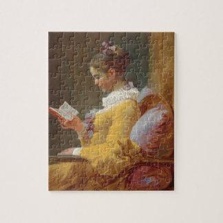 Una lectura de la chica joven, el lector de J. Fra Rompecabeza