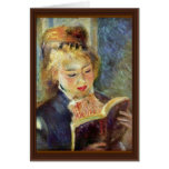 Una lectura del chica de Pierre-Auguste Renoir Felicitación
