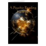 """""""Una lectura psíquica para usted"""" tarjeta de felic"""