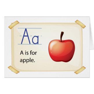 Una letra A para la manzana Tarjeta De Felicitación