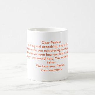 Una letra al pastor taza básica blanca