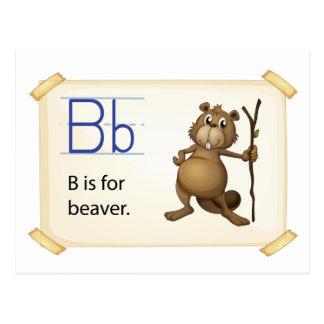 Una letra B para el castor Postales