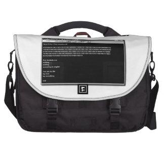 Una letra de amor del empollón bolsa para ordenador