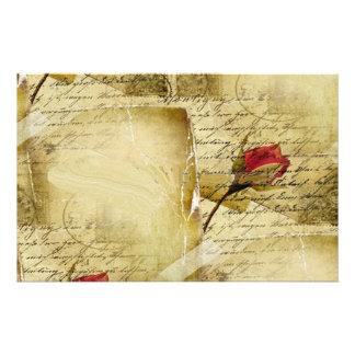 Una letra de amor del vintage papeleria