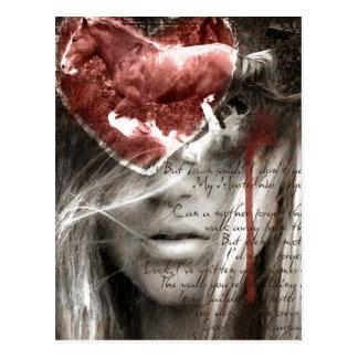 Una letra de amor postal