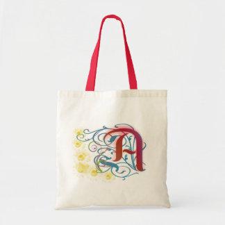 Una letra escarlata bolsa tela barata