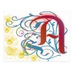 Una letra escarlata postal