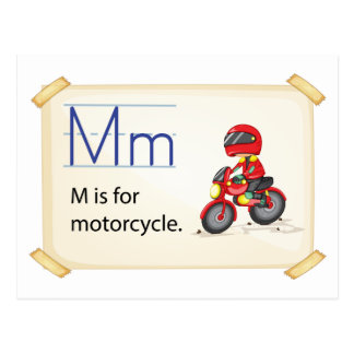 Una letra M para la motocicleta Postal
