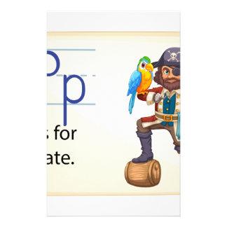 Una letra P para el pirata Papelería De Diseño