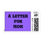 Una letra para la mamá franqueo