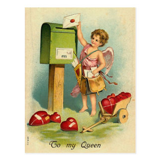 Una letra para mi reina tarjeta postal