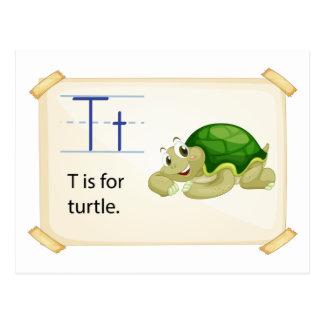 Una letra T para la tortuga Tarjeta Postal