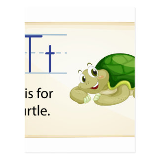 Una letra T para la tortuga Tarjetas Postales