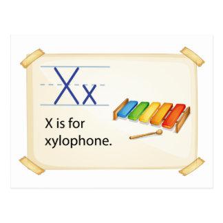 Una letra X para el xilófono Tarjeta Postal
