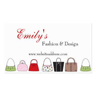 Una línea de tarjetas de visita de moda del diseño
