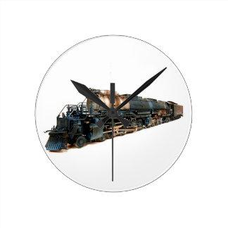 Una locomotora de vapor grande del muchacho relojes