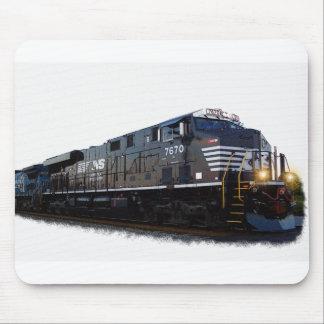 Una locomotora diesel negra tapete de raton