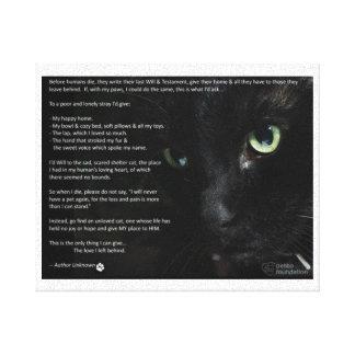 una lona de muerte del deseo de los gatos impresión en lienzo