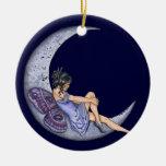 Una luna de hadas ornamentos para reyes magos