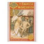 Una luna de miel china tarjetas postales