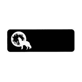 Una luna del lobo etiqueta de remitente