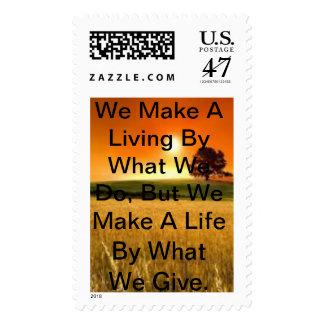 Una luz de la inspiración de Winston Churchill Sello Postal