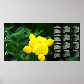 Una luz tenue del calendario de la esperanza 2016 póster