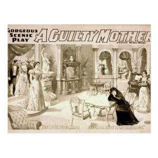 Una madre culpable tarjetas postales