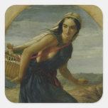 Una madre israelí, 1857/1860 calcomanías cuadradas personalizadas