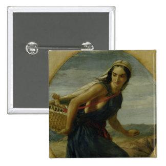 Una madre israelí, 1857/1860 pin cuadrado