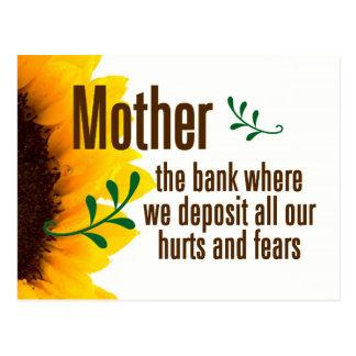 Una madre le toma los daños y los miedos de los postal