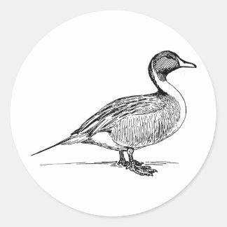 ¡Una mala caza del pato del día sigue siendo un Pegatina Redonda