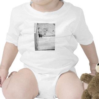 Una mala hierba de la lucha en pasos concretos trajes de bebé